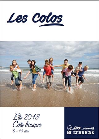 Couverture Plaquette Colos 2018